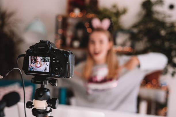 vlogging - vlogger stock photos and pictures