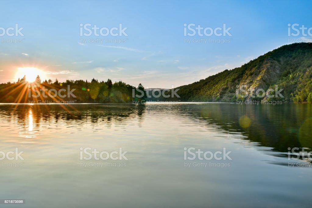 Vltava river, czech republic stock photo