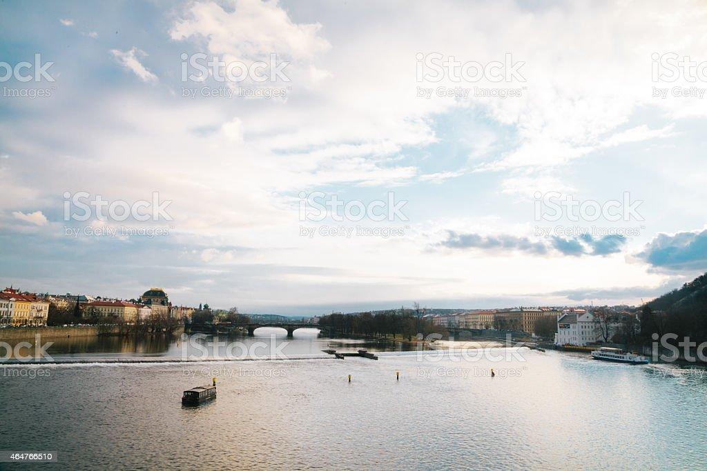 Moldau south/east Blick von der Karlsbrücke – Foto