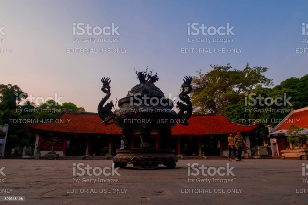 Vän Mieu Quòc Tù Giam, Temple of Literature, Hanoi, Vietnam stock photo