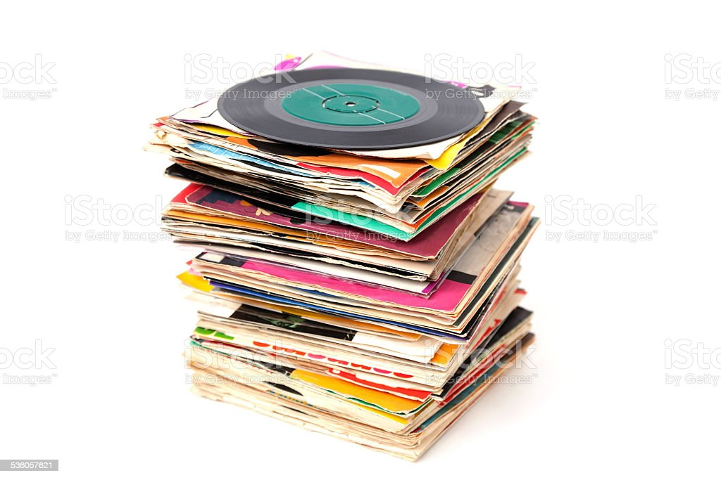 Vntage vinyl records. stock photo