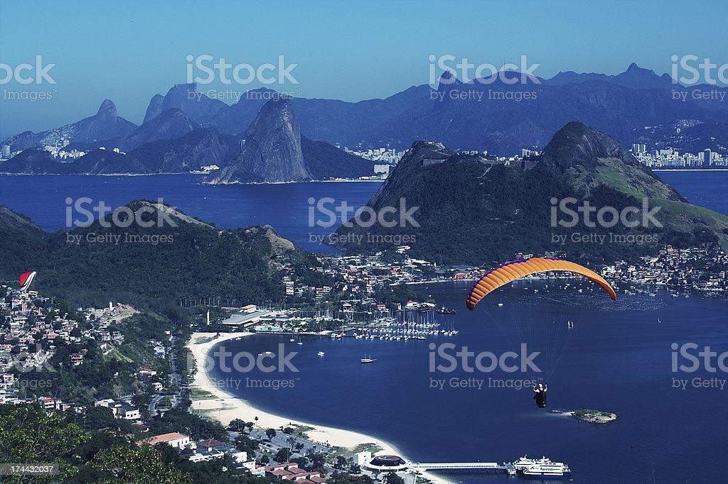 Voando pelo paraíso stock photo