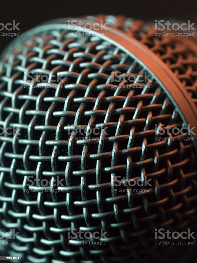 Vocal microphone macro royalty-free stock photo