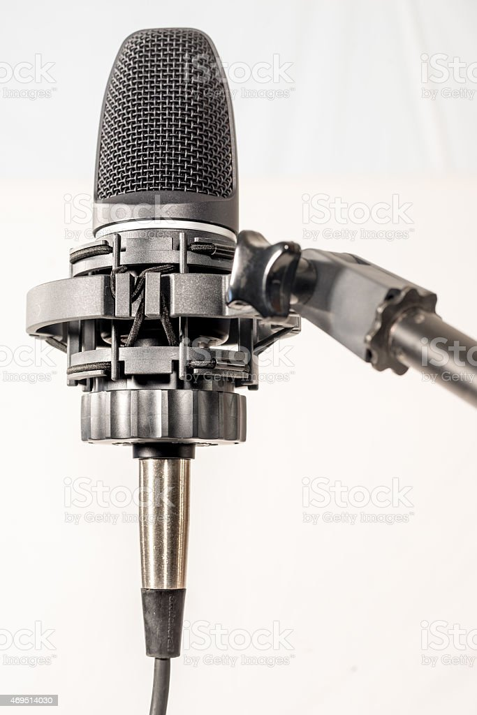 Vocal Microphone on Stand stock photo