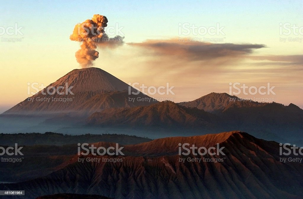 Vocano mount bromo Indonesia stock photo