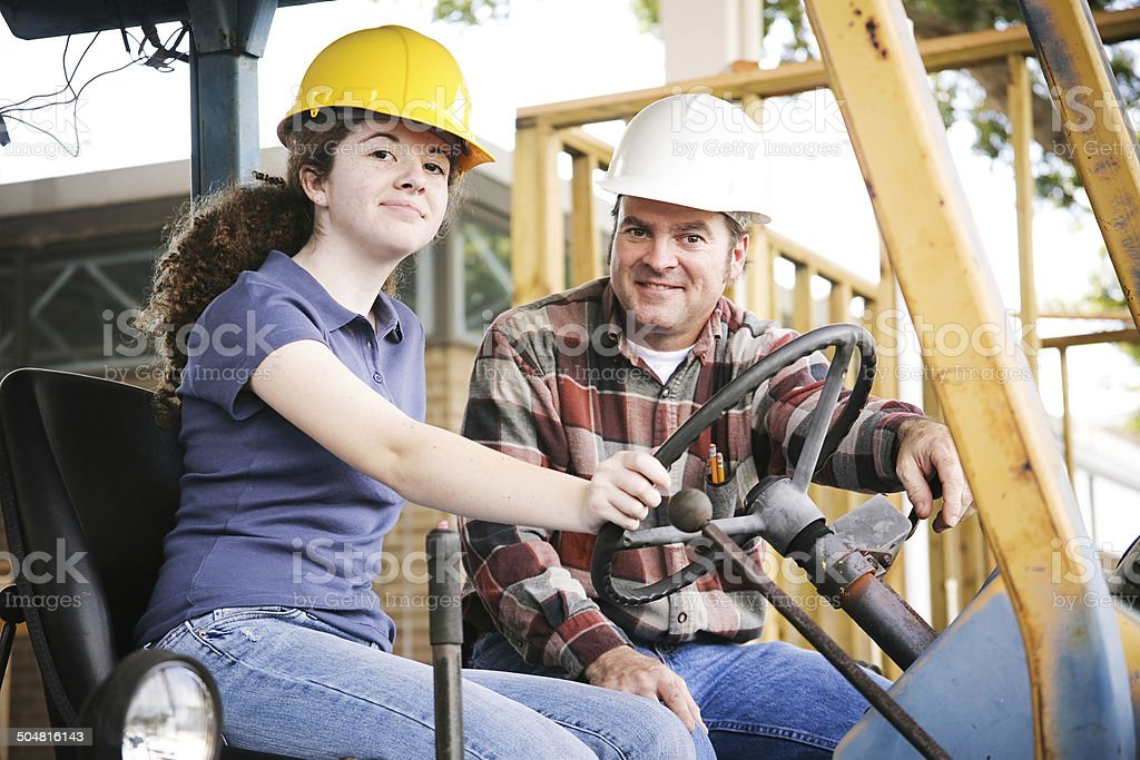 Vocational Training in Construction stock photo