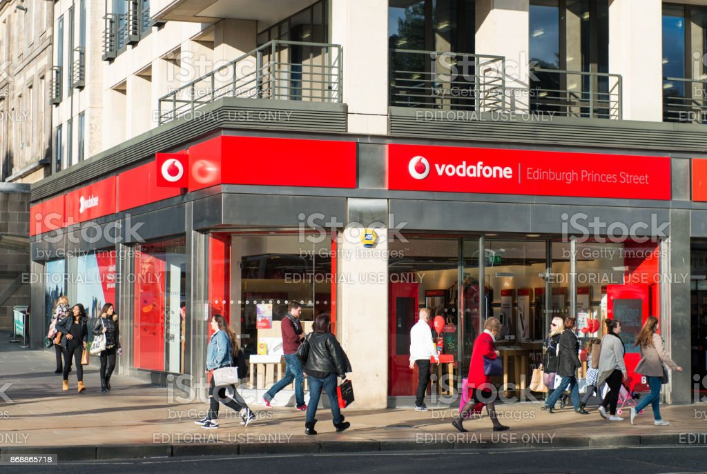 Vodafone retail store on the street