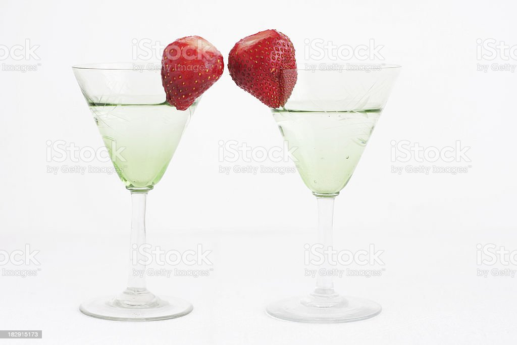 Vodka cocktail with strawberry royalty-free stock photo