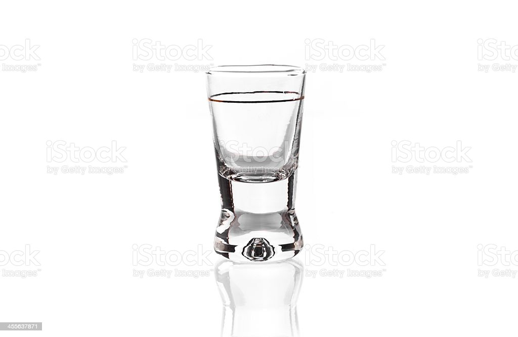 Vodka glass stock photo