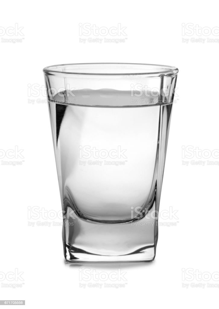 Vodka in vintage glass stock photo
