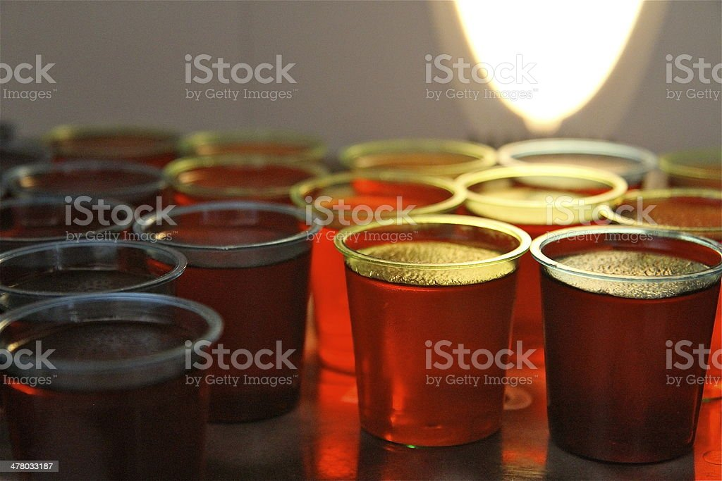 Vodka Jelly Shots stock photo