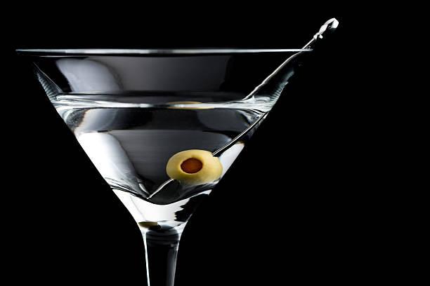 Vodka martin cocktails on black background - Photo