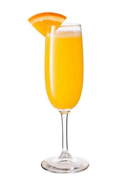 vodka orange juice mimosa cocktail on white - fruit juice bottle isolated foto e immagini stock