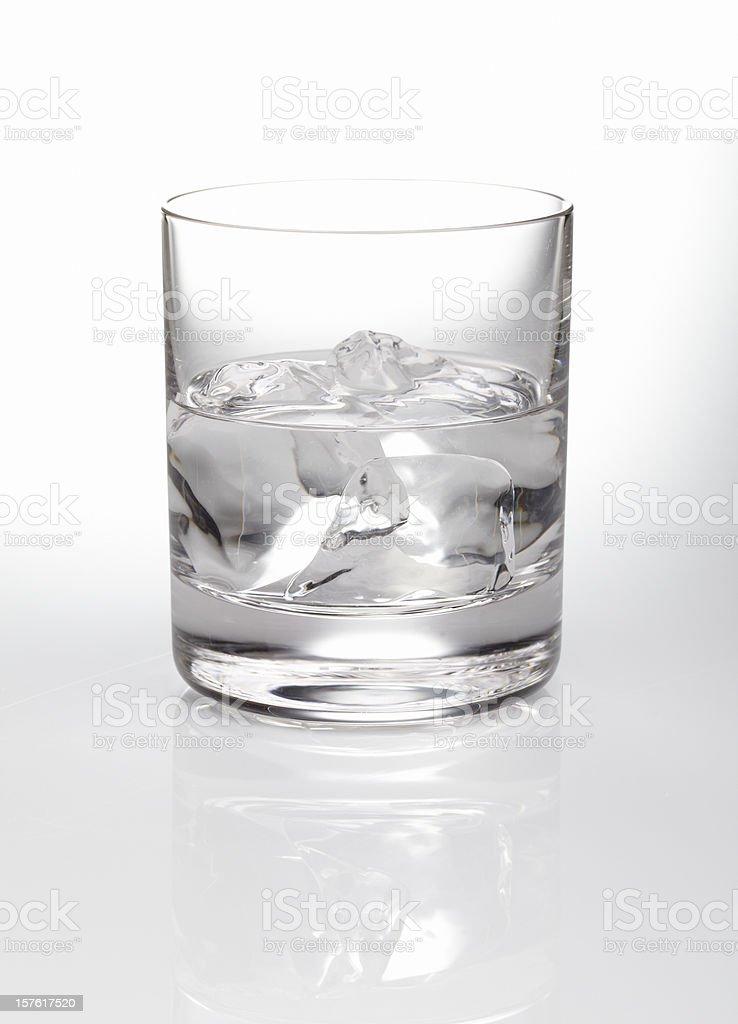 Vodka rocks stock photo