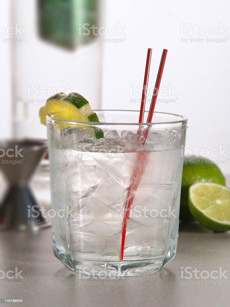 Vodka Tonic Cocktail royalty-free stock photo