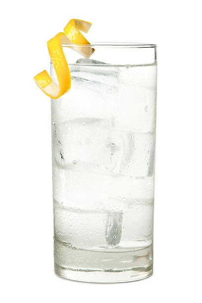 Vodka Tonic or Soda Isolated on White Background Vodka Tonic or Soda Isolated on White Background vodka stock pictures, royalty-free photos & images