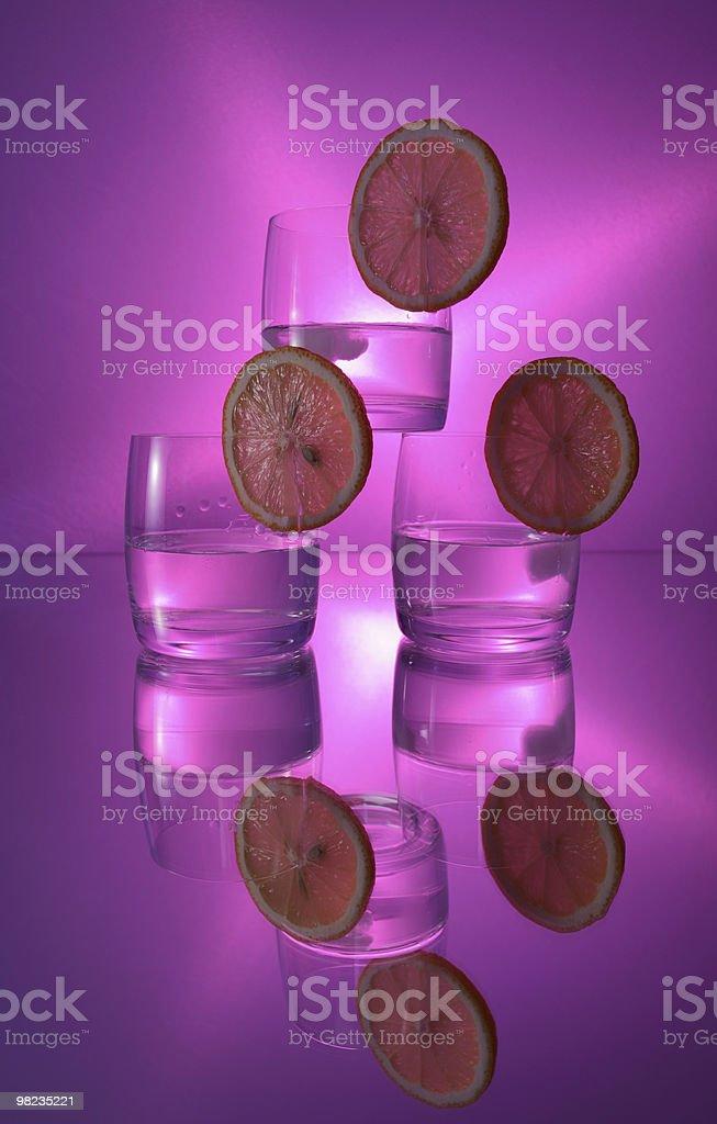 vodka with lemon royalty-free stock photo