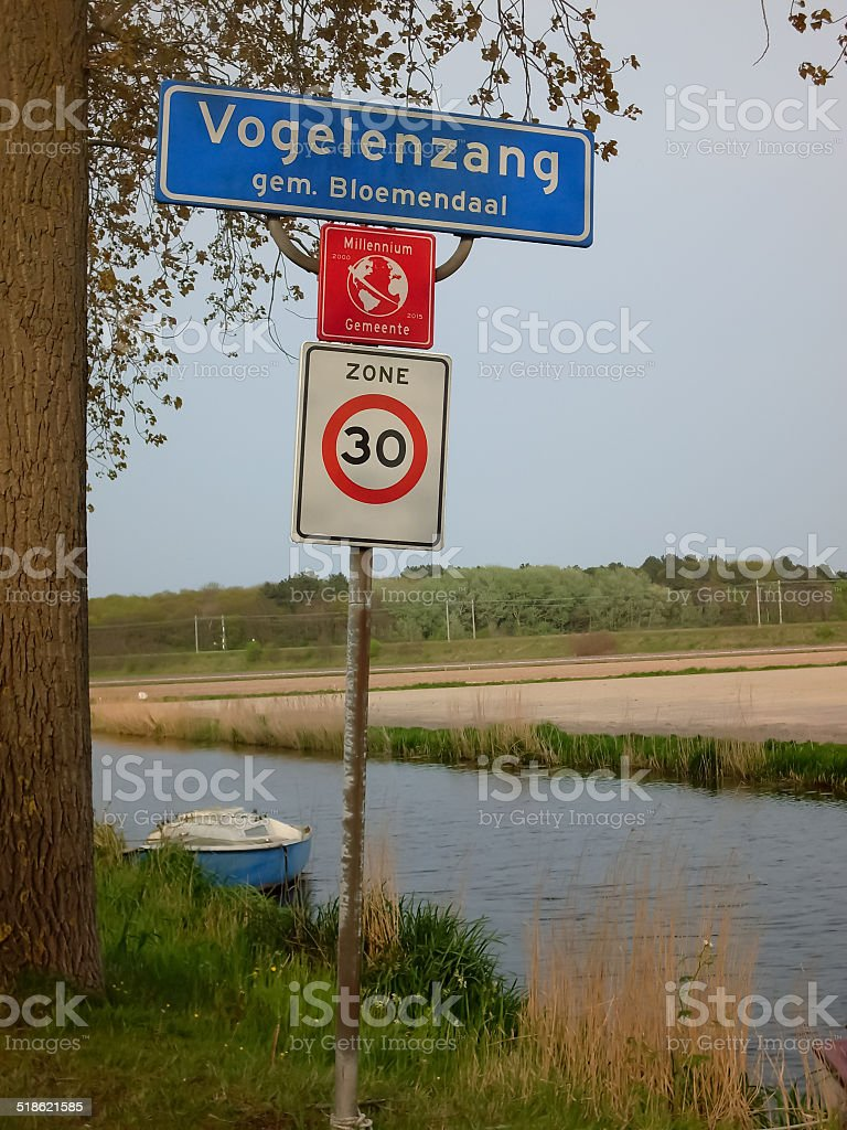 Vogelenzang. A small place in Holland stock photo