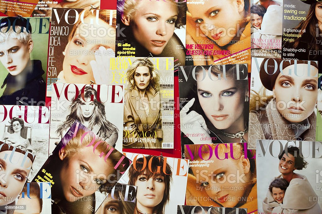 Vogue magazine covers stock photo