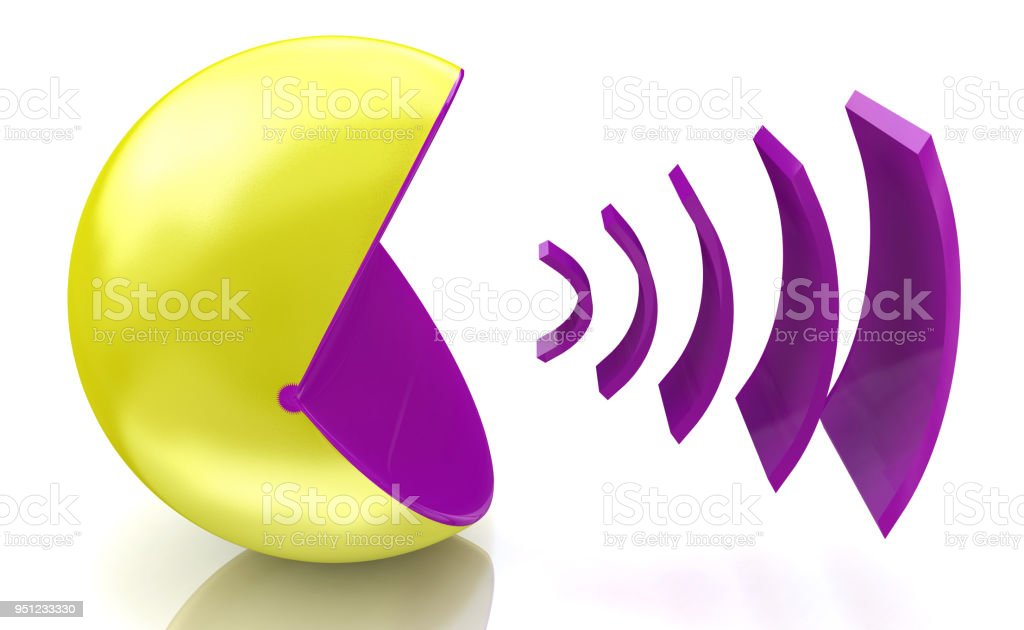 Voice broadcasting when you make information relating to voice and messages. 3d illustration stock photo