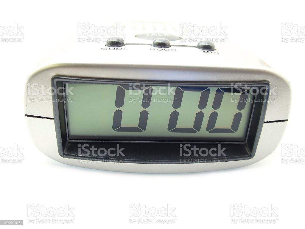 voice clock stock photo