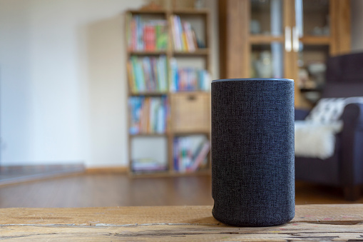 istock voice controlled smart speaker 1075380126