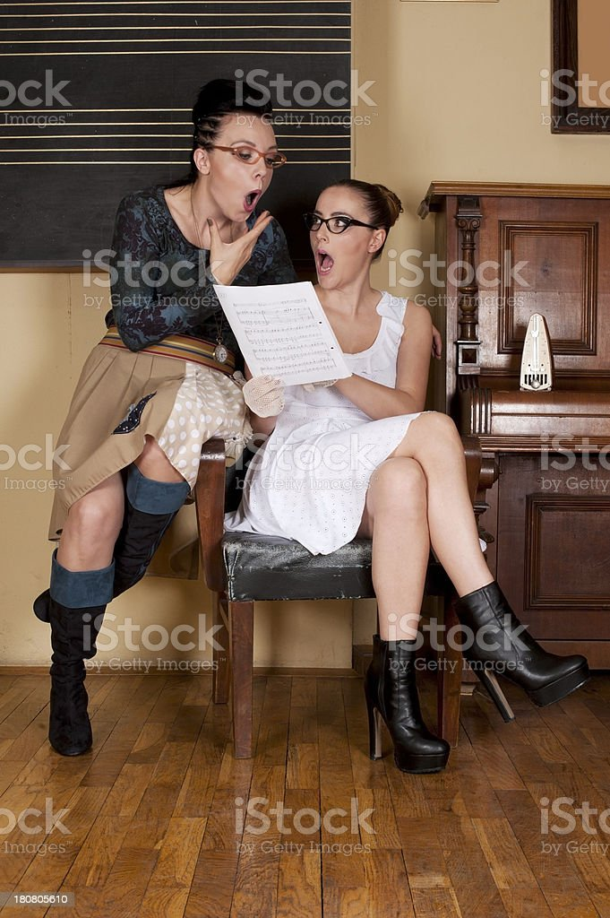Voice Lesson royalty-free stock photo