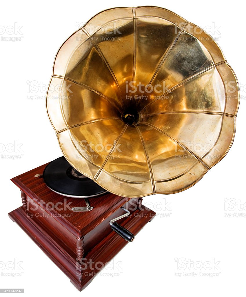 Voice Of His Master Phonograph stock photo