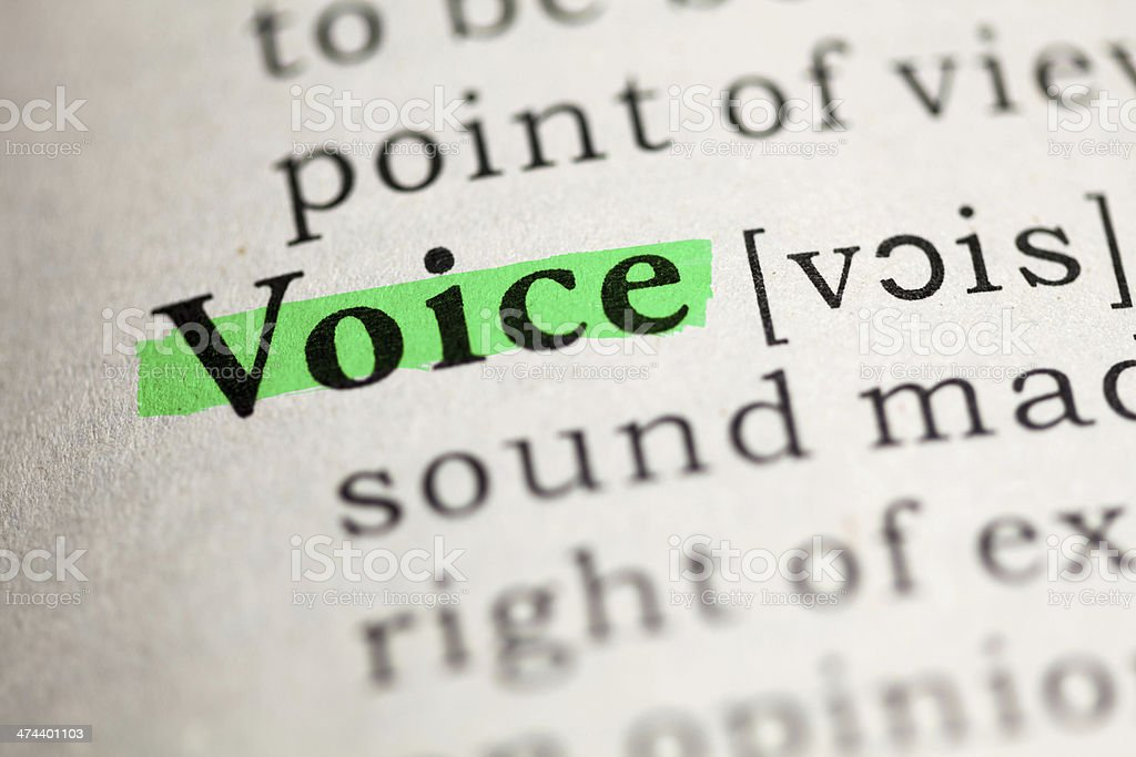 Voice stock photo