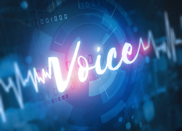 voice recognition technology stock photo