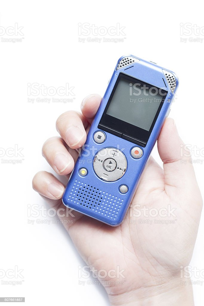 Voice recorder stock photo