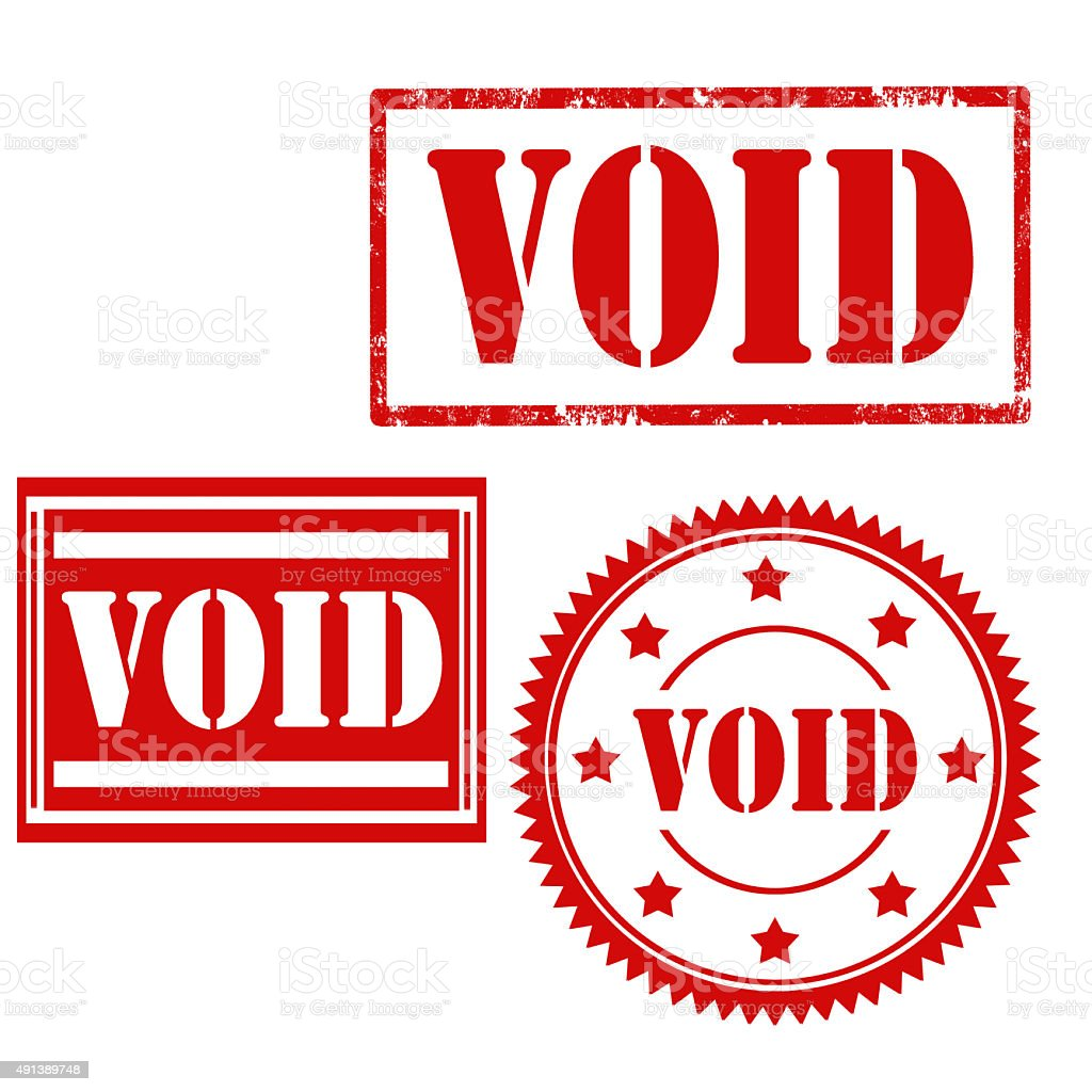Void-stamps stock photo