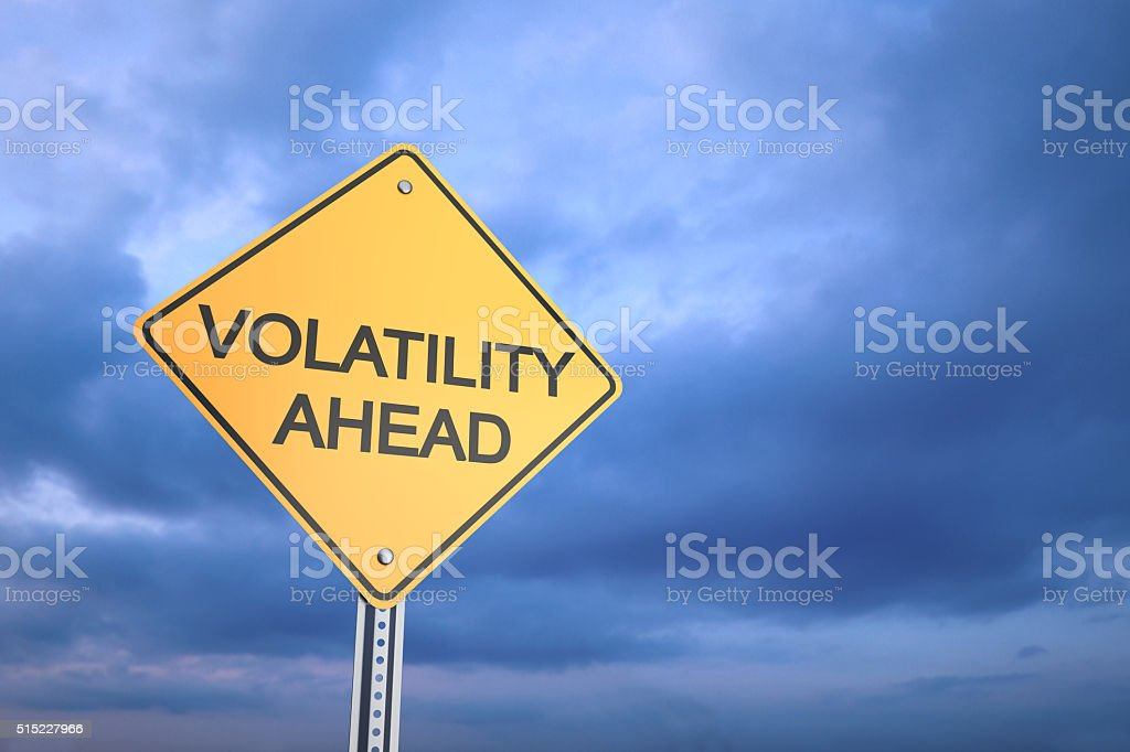 Volatility Ahead stock photo
