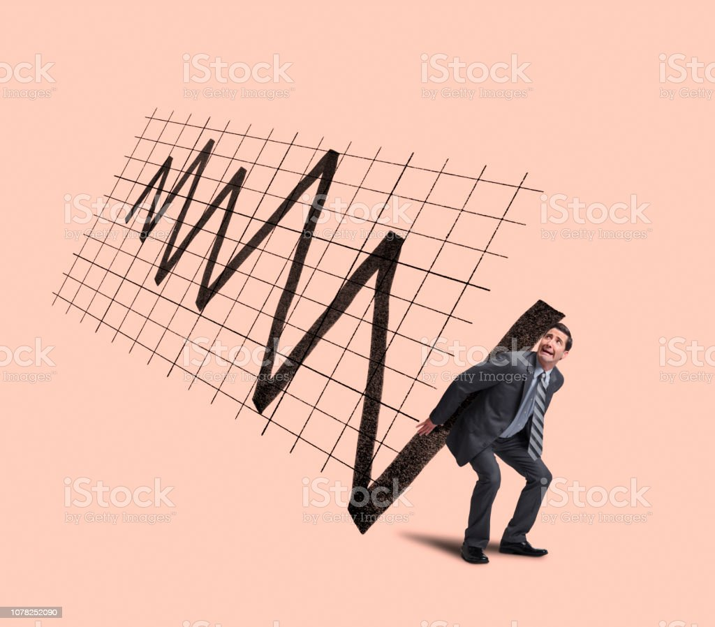 Volatility Of Financial Markets stock photo