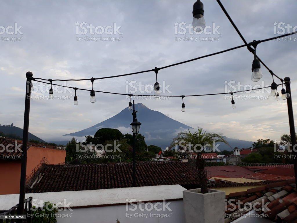 Volcan de agua stock photo