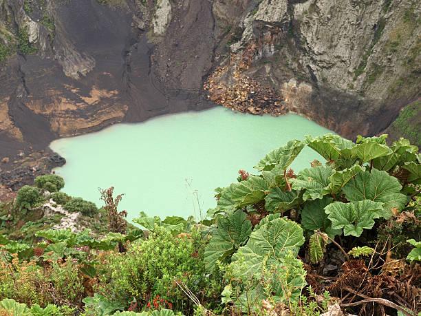 volcan irazu stock photo