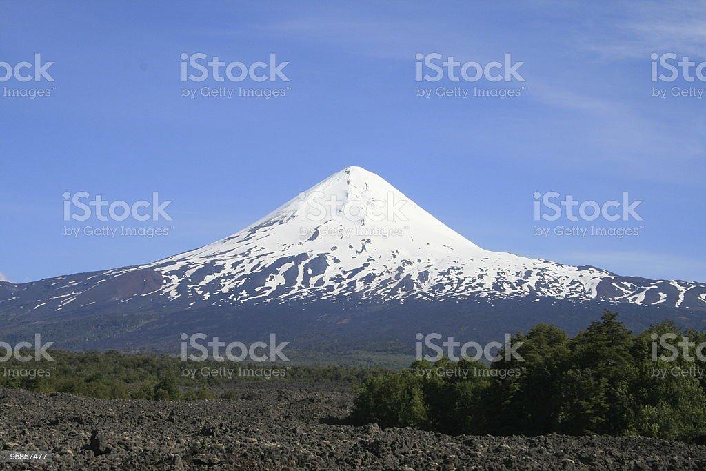 Vulkan Llaina und Lavafelder in Chile – Foto