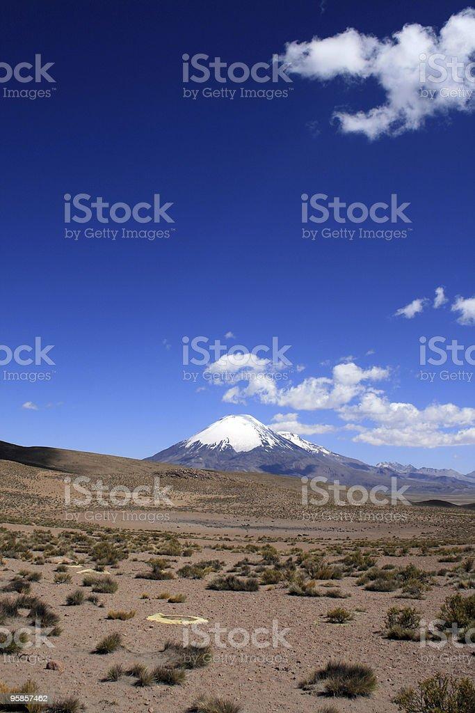Vulkan Parinacota in Chile-entfernt Porträt – Foto