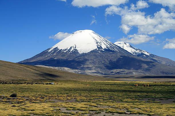 Vulkan Parinacota in Chile-Landschaft – Foto