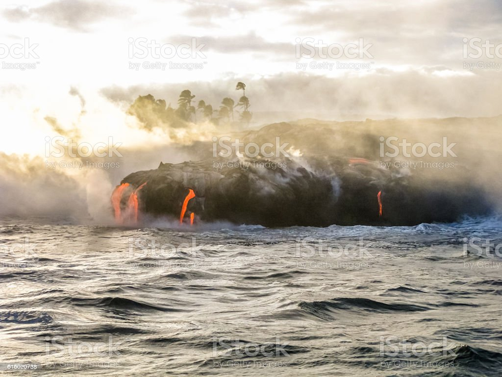 Volcanic activity Hawaii stock photo