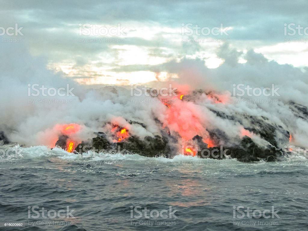Volcanic activity Hawaii stock photo