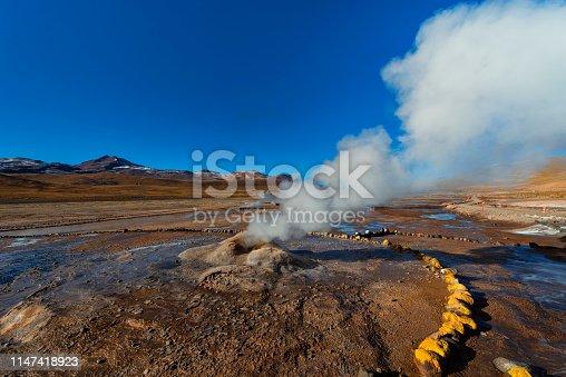 Geysers at andean altiplano - El Tatio