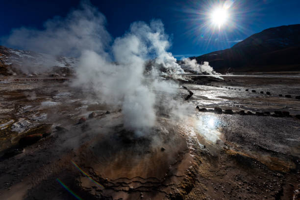 Vulkangebiet - Geysir - El Tatio - Geothermie – Foto