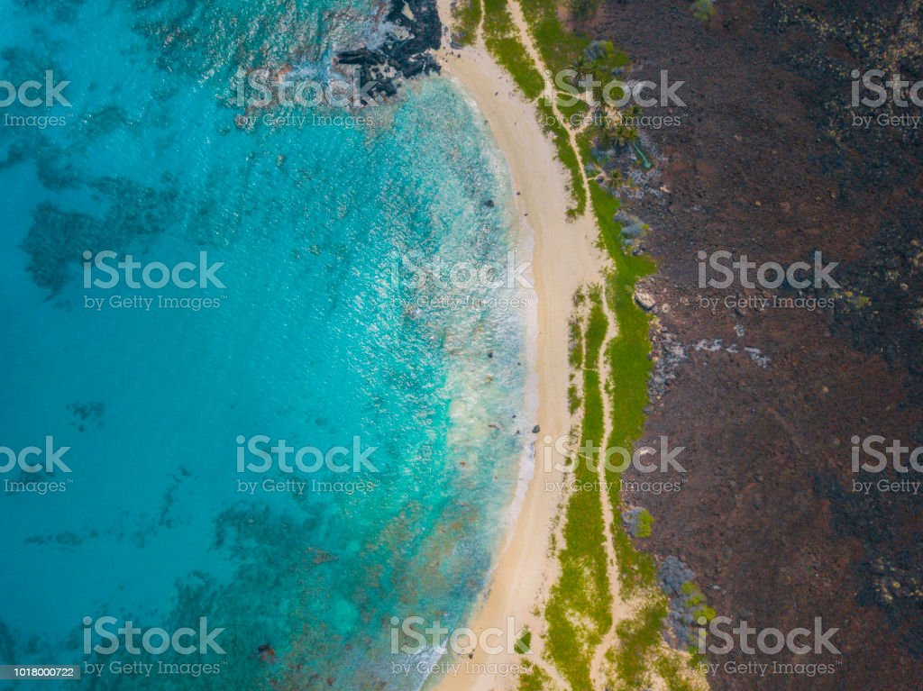 Volcanic Beach stock photo