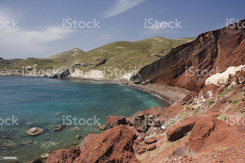 Volcanic beach royalty-free stock photo