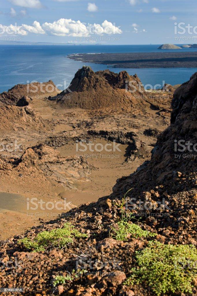 Volcanic cinder cone - Galapagos Islands - Ecuador stock photo