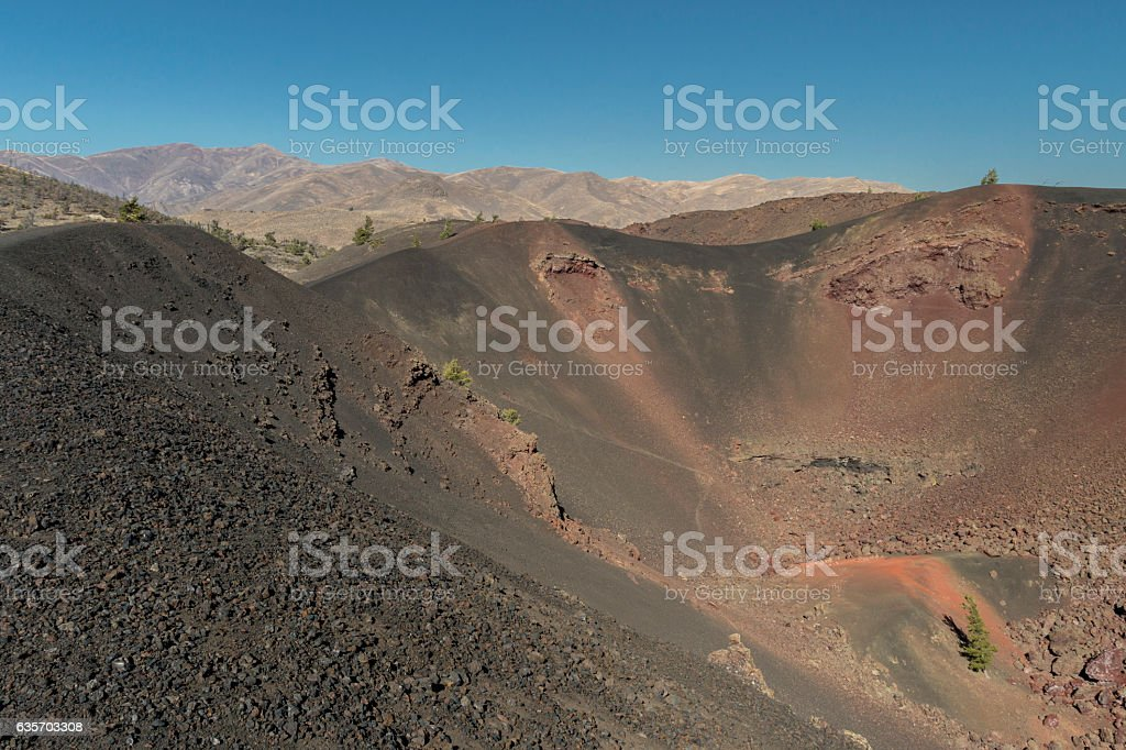 Volcanic Crater in Craters of the Moon National Monument, Idaho. royalty-free stock photo