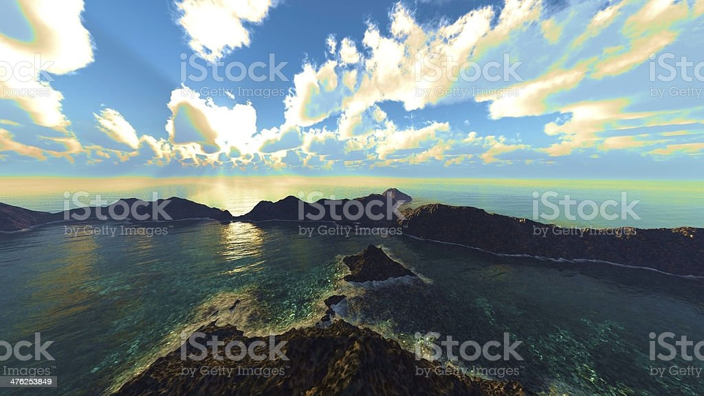 Volcanic  crater royalty-free stock photo