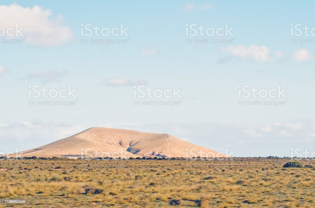 Volcanic Desert in Spain stock photo