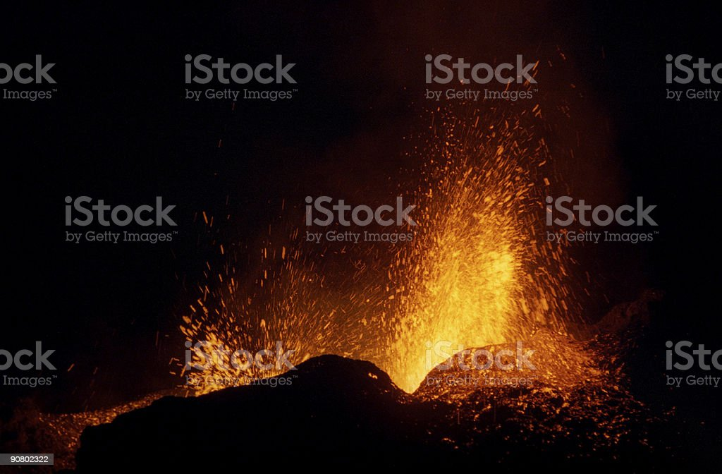 volcanic eruption 2 royalty-free stock photo